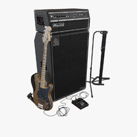 3d precision bass guitar set