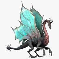 3d dragon modelled