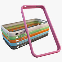 3d model iphone 4 bumper set