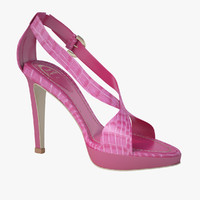 3d model of - pink sandals caovilla