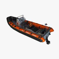 rhib boat 3d model