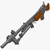 m1918a2 browning automatic rifle gun 3d c4d