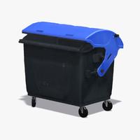 plastic dumpster garbage 3d model