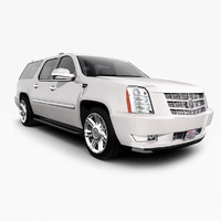 3d 2013 cadillac escalade esv model
