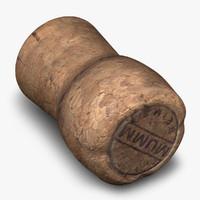 c4d champagne cork
