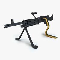 3d m240 machine gun