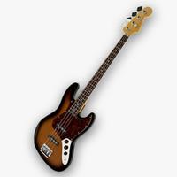 music fender american standard 3d model