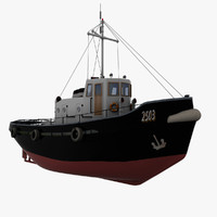 harbour tugboat boat 3ds