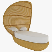 3d outdoor wicker bed