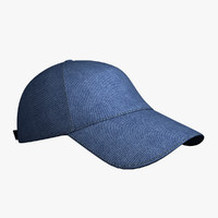 blue baseball cap hat 3d obj