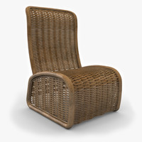 vimini wicker chair 3d max