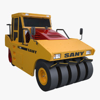 3d sany yl25c tyre roller