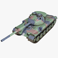 3d model swiss panzer 68 battle tank