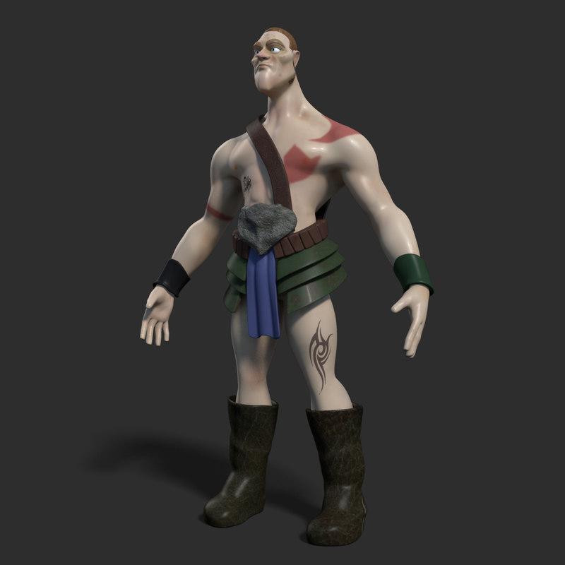 3d model of a cartoon warrior first_00000.jpg