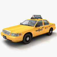 3d taxi car victoria crown model