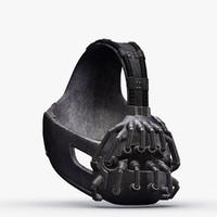 bane mask 3d model