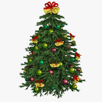 3d model christmas tree 14