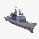 Ticonderoga class cruiser 3D models