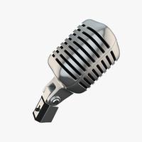 classic microphone c4d
