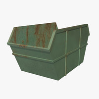 3d green container