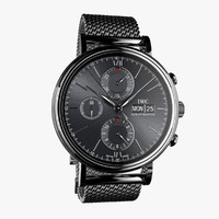 max iwc milanese mesh-virtual modeled