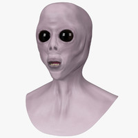 extraterrestrial bust 3d model