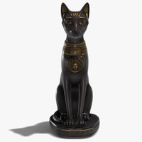 3d model egyptian bastet statue