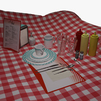 Set Of Dishes (Diner)