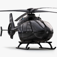 3d model eurocopter ec 135 black