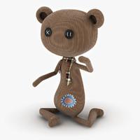 bear puppet 3d obj