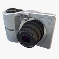 canon powershot a1300 camera 3d max