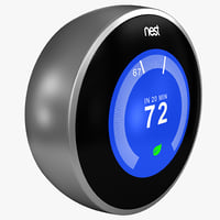 nest learning thermostat 3d max