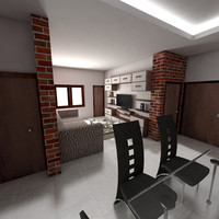 3d model drawing room