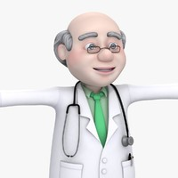 maya cartoon doctor old man
