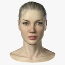 female head 3D models