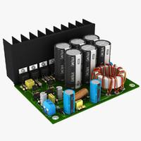 circuit 12v converter 3d model