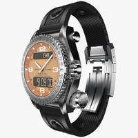 Breitling Emergency Orange-virtual 3d model