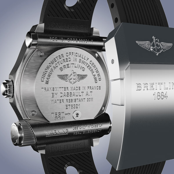 3ds max breitling emergency modeled watch - Breitling Emergency Orange-virtual 3d model... by MilosJakubec