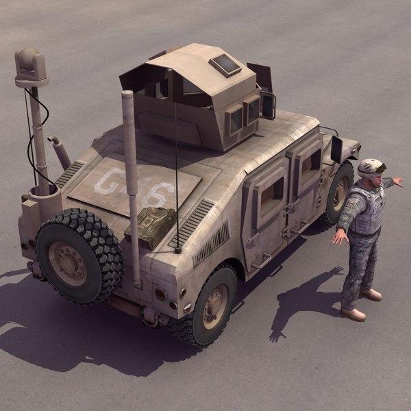 3d model m1151 hmmwv