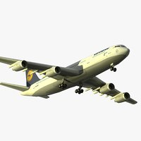 3d max airbus a340-300 lufthansa