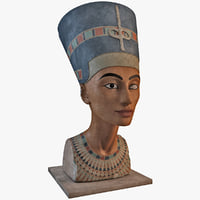egyptian nefertiti bust 3d model