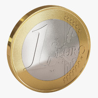 euro coin 3d 3ds