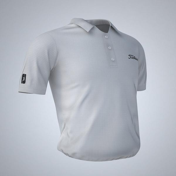 3d model titleist golf shirt