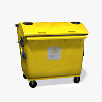 yellow dumpster 3d model