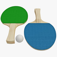 ping pong paddles 3d model