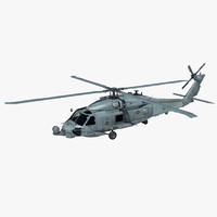 sh-60b military helicopter 3d model