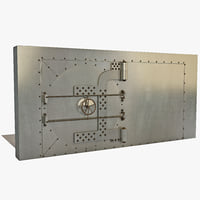3d model of bank vault door