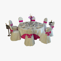 3d banquet table chairs
