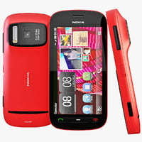 3d red nokia 808 pureview model