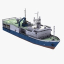 Floating production storage and offloading vessel 3D models